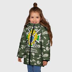 Куртка зимняя для девочки ПВ За службу на Кавказе цвета 3D-черный — фото 2