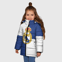 Куртка зимняя для девочки Real Madrid: Blue style цвета 3D-черный — фото 2