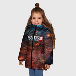 Куртка зимняя для девочки Mass Effect 3: War цвета 3D-черный — фото 2