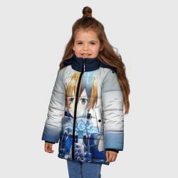 Куртка зимняя для девочки Юдзио (ユージオ Yūjio цвета 3D-черный — фото 2