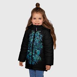 Куртка зимняя для девочки Ghost In The Shell 7 цвета 3D-черный — фото 2