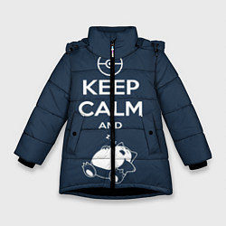 Куртка зимняя для девочки Keep Calm & Squirtle - фото 1