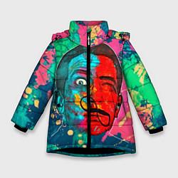 Куртка зимняя для девочки Dali Art цвета 3D-черный — фото 1