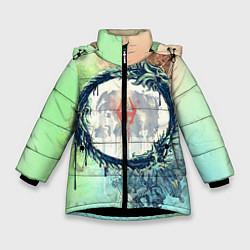 Куртка зимняя для девочки TES 2 цвета 3D-черный — фото 1