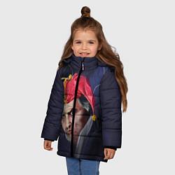 Куртка зимняя для девочки Горшенёв шут цвета 3D-черный — фото 2