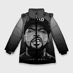 Куртка зимняя для девочки Ice Cube: Gangsta цвета 3D-черный — фото 1