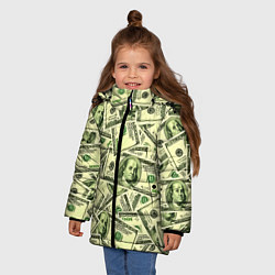 Куртка зимняя для девочки Benjamin Franklin цвета 3D-черный — фото 2