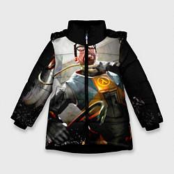 Куртка зимняя для девочки Freeman цвета 3D-черный — фото 1
