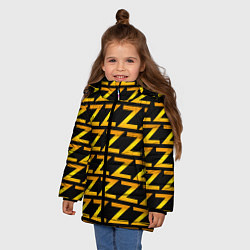 Детская зимняя куртка для девочки с принтом Brazzers Z, цвет: 3D-черный, артикул: 10133766306065 — фото 2