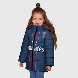 Куртка зимняя для девочки PSG FC: Blue цвета 3D-черный — фото 2
