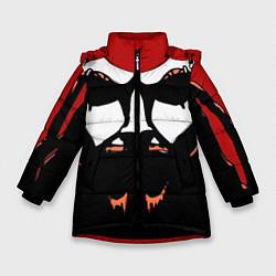 Детская зимняя куртка для девочки с принтом Metalocalypse: Dethklok Face, цвет: 3D-черный, артикул: 10134388506065 — фото 1