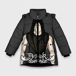 Куртка зимняя для девочки Dethklok Man цвета 3D-черный — фото 1
