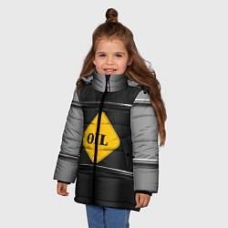 Куртка зимняя для девочки Oil цвета 3D-черный — фото 2