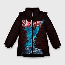 Куртка зимняя для девочки Орел группа Slipknot цвета 3D-черный — фото 1