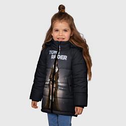 Куртка зимняя для девочки TOMB RAIDER цвета 3D-черный — фото 2