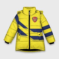 Куртка зимняя для девочки Arsenal FC: Yellow style цвета 3D-черный — фото 1