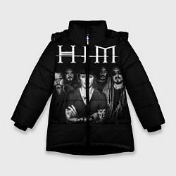 Куртка зимняя для девочки HIM Rock цвета 3D-черный — фото 1