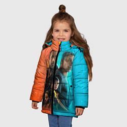 Куртка зимняя для девочки Blade Runner Heroes цвета 3D-черный — фото 2