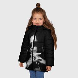 Детская зимняя куртка для девочки с принтом Оззи Осборн, цвет: 3D-черный, артикул: 10138077306065 — фото 2