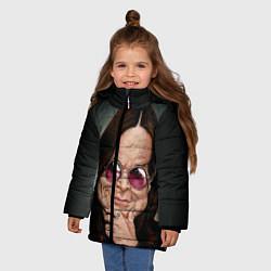 Куртка зимняя для девочки Оззи Осборн цвета 3D-черный — фото 2