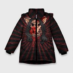 Куртка зимняя для девочки He is everyone цвета 3D-черный — фото 1