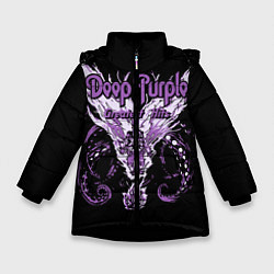 Куртка зимняя для девочки Deep Purple: Greatest Hits цвета 3D-черный — фото 1