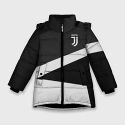 Куртка зимняя для девочки FC Juventus: Sport Geometry цвета 3D-черный — фото 1