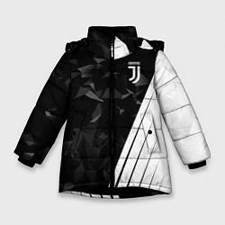 Куртка зимняя для девочки FC Juventus: Abstract цвета 3D-черный — фото 1