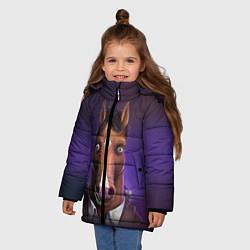 Куртка зимняя для девочки BoJack цвета 3D-черный — фото 2