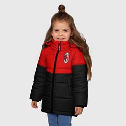 Куртка зимняя для девочки АC Milan: R&B Sport цвета 3D-черный — фото 2