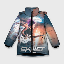 Куртка зимняя для девочки Skillet: Korey Cooper цвета 3D-черный — фото 1