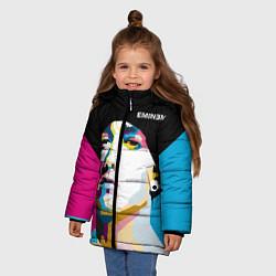 Куртка зимняя для девочки Eminem Poly Art цвета 3D-черный — фото 2