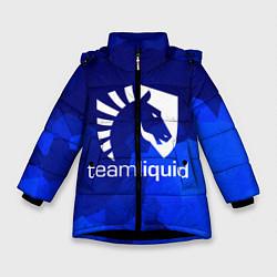 Детская зимняя куртка для девочки с принтом Team Liquid: Polygons, цвет: 3D-черный, артикул: 10143164106065 — фото 1