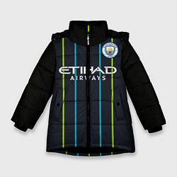 Куртка зимняя для девочки FC Manchester City: Away 18/19 цвета 3D-черный — фото 1
