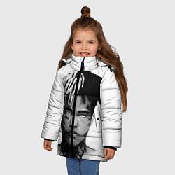 Куртка зимняя для девочки XXXTentacion: Pixel Art цвета 3D-черный — фото 2
