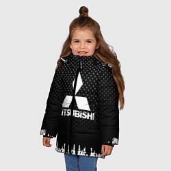 Куртка зимняя для девочки Mitsubishi: Black Side цвета 3D-черный — фото 2