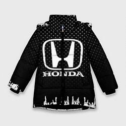 Куртка зимняя для девочки Honda: Black Side цвета 3D-черный — фото 1