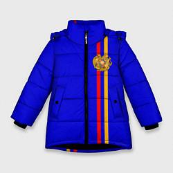Куртка зимняя для девочки Армения цвета 3D-черный — фото 1