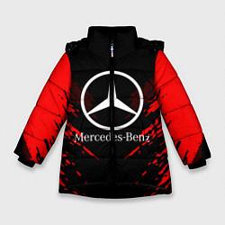 Куртка зимняя для девочки Mercedes-Benz: Red Anger цвета 3D-черный — фото 1