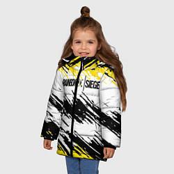 Куртка зимняя для девочки Rainbow Six Siege: Yellow цвета 3D-черный — фото 2