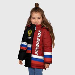 Куртка зимняя для девочки Volgograd, Russia цвета 3D-черный — фото 2