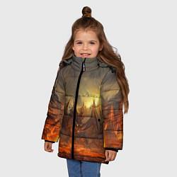 Детская зимняя куртка для девочки с принтом Linage II: Fire Dragon, цвет: 3D-черный, артикул: 10147854506065 — фото 2