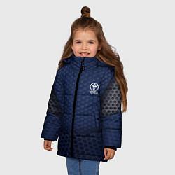 Куртка зимняя для девочки Toyota: Sport Motors цвета 3D-черный — фото 2