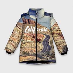 Куртка зимняя для девочки California Way цвета 3D-черный — фото 1