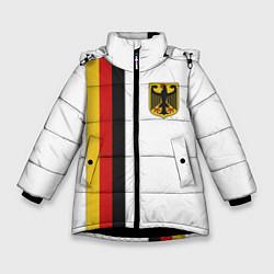 Куртка зимняя для девочки I Love Germany цвета 3D-черный — фото 1