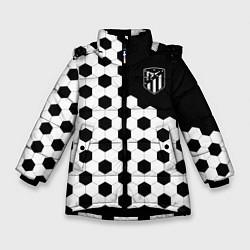Куртка зимняя для девочки FC Atletico Madrid: Hexa Style цвета 3D-черный — фото 1