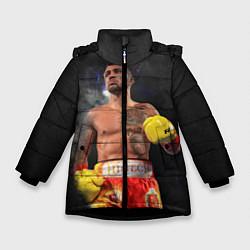 Куртка зимняя для девочки Vasyl Lomachenko цвета 3D-черный — фото 1