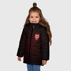 Куртка зимняя для девочки Arsenal: Sport Grid цвета 3D-черный — фото 2