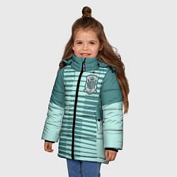 Куртка зимняя для девочки Сборная Испании: Вратарская ЧМ-2018 цвета 3D-черный — фото 2