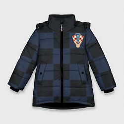 Куртка зимняя для девочки Сборная Хорватии: Гостевая ЧМ-2018 цвета 3D-черный — фото 1